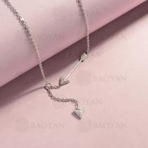 collar de acero inoxidable para mujer -SSNEG143-14830