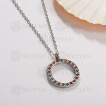 Collar de Acero Inoxidable Multi Color -SSNEG143-13032