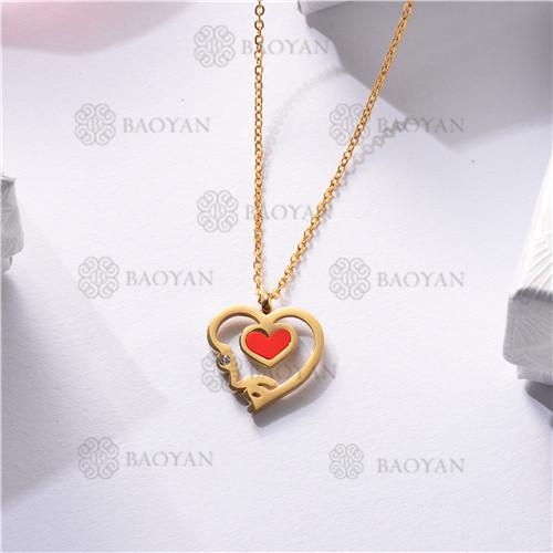 Collar Regalo para Novia en el Dia de Amor en Acero Inoxidable -SSNEG143-11338