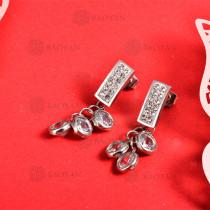 Aretes de Acero Inoxidable -SSEGG147-9235