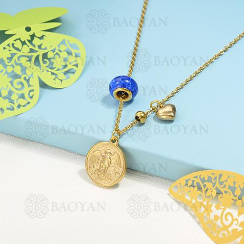 collar de charms en acero inoxidable -SSNEG142-16220