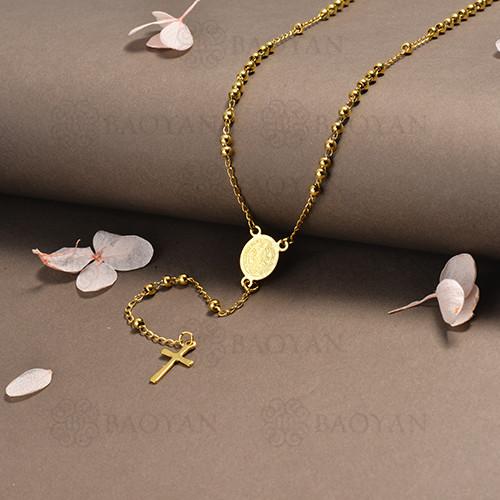 rosario en acero inoxidable -SSNEG95-16399