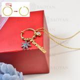 collar de charms DIY en acero inoxidable -SSNEG142-16263