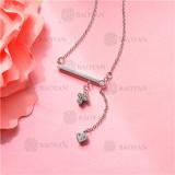 Collar de Acero Inoxidable para Mujer -SSNEG143-11356
