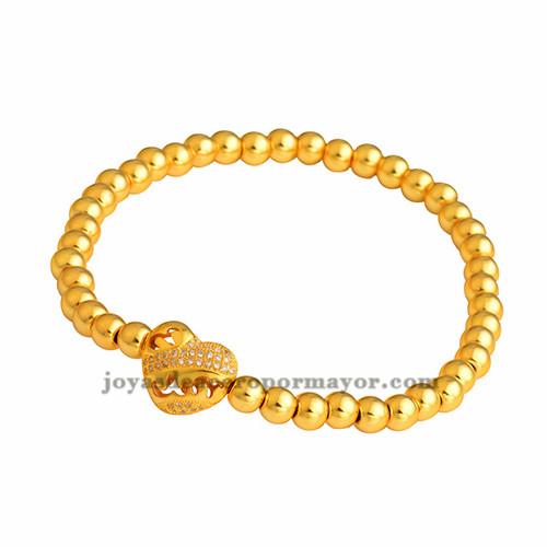 pulsera de corazon en oro laminado BRBTG00050