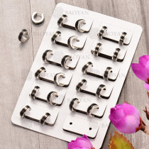 Huggies de Acero Inoxidable para Mujer -SSEGG102-6029