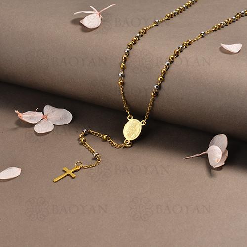 rosario en acero inoxidable -SSNEG95-16390