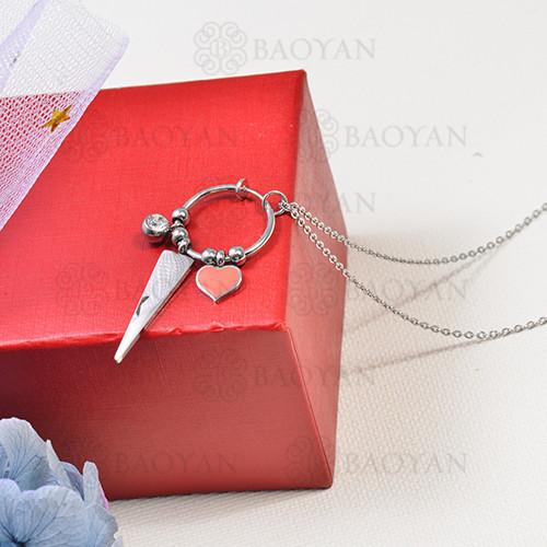 collar de charms DIY en acero inoxidable -SSNEG142-16251