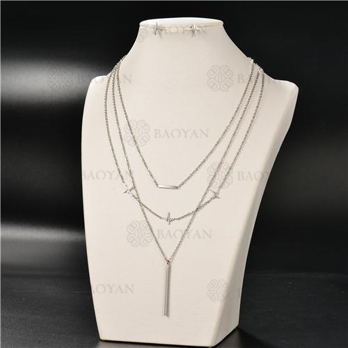 Collar Multicapa en AceroSSNEG126-4931
