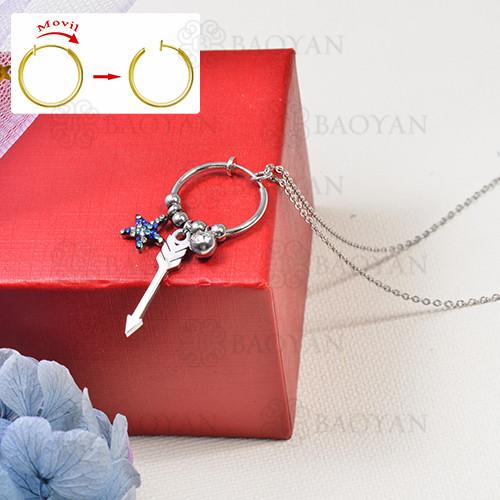collar de charms DIY en acero inoxidable -SSNEG142-16265