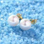 aretes de bola blanco en acero para chica-SSEGG163775_3