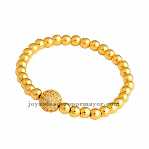 pulsera de bola en oro laminado BRBTG00044