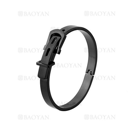 pulsera de moda de negro en acero inoxidable-SSBTG1225017