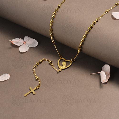 rosario en acero inoxidable -SSNEG95-16394