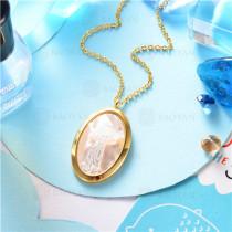 collar dorado en  acero inoxidable-SSNEG129-9642