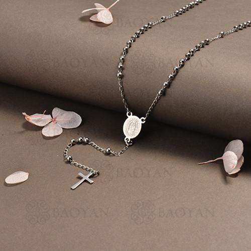 rosario en acero inoxidable -SSNEG95-16400