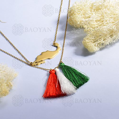 collar de Bandera colombiana para Mujer -SSBTG142-14966