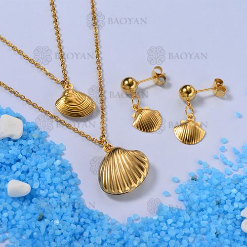 Conjunto de Collares de Concha Multi Capa -SSNEG142-12669