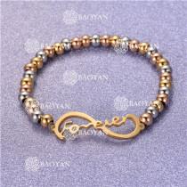 Pulsera con Bolitas Oro Dorado Para Mujer -SSBTG95-6262