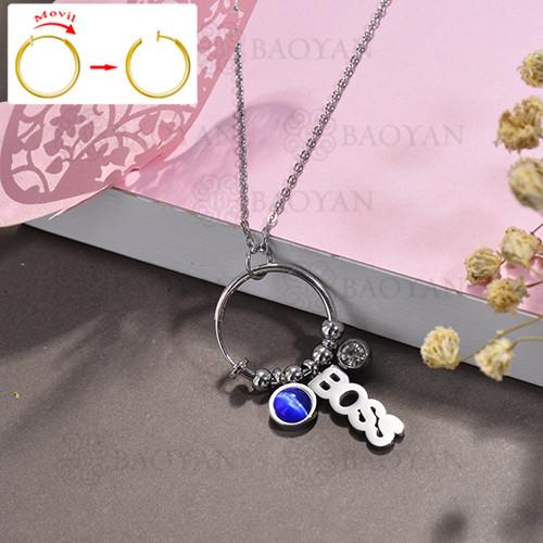 collar de DIY en acero inoxidable -SSNEG143-15519