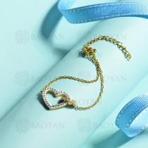 pulsera de acero inoxidable para mujer -SSBTG143-15382-G