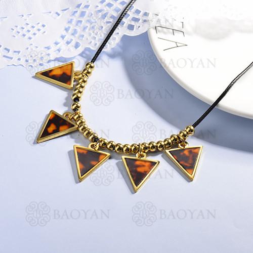 collares de acero inoxidable para mujer -SSNEG143-15370