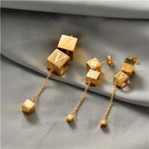 juego collar y aretes en acero inoxidable-SSNEG129-10028