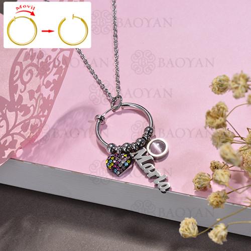 collar de DIY en acero inoxidable -SSNEG143-15518