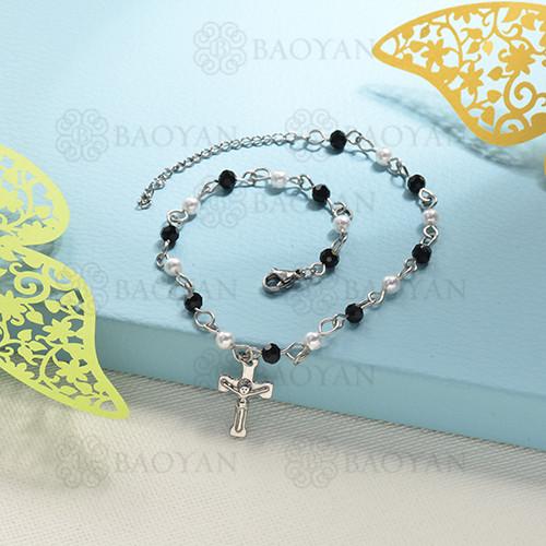 pulseras de bolitas natural con charms -SSBTG142-16198