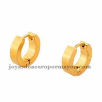 argollas 11mm estilo simple dorado en acero inoxidable -SSEGG384235