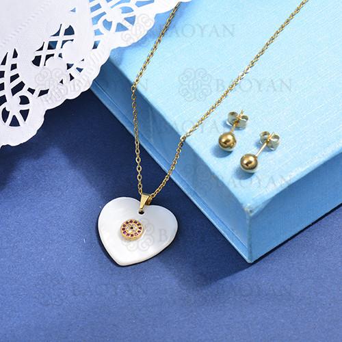 conjunto de collar de bronce y concha -SSCSG107-15871