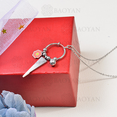 collar de charms DIY en acero inoxidable -SSNEG142-16254