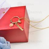 collar de charms DIY en acero inoxidable -SSNEG142-16253