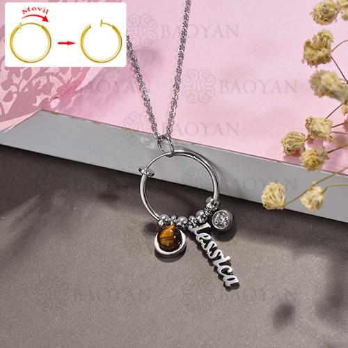 collar de DIY en acero inoxidable -SSNEG143-15522