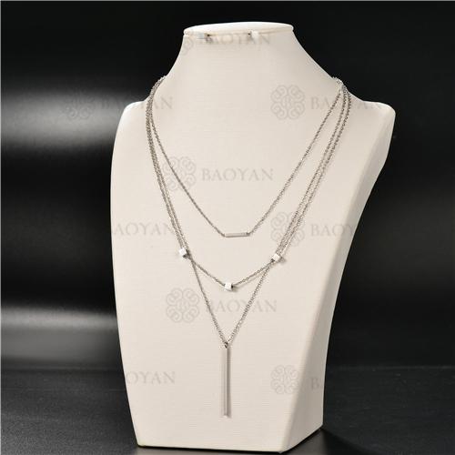 Collar Multicapa en AceroSSNEG126-4929