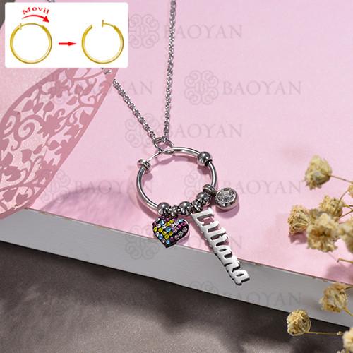 collar de DIY en acero inoxidable -SSNEG143-15511