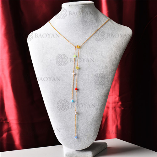 Collar con Multi Capa en Acero Inoxidable -SSNEG142-9298