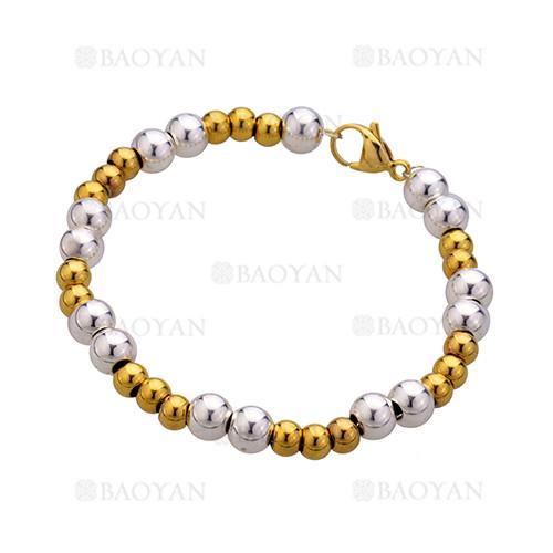 pulsera con bolas de dorado y blanco para mujer-BRBTG28479