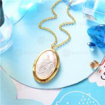 collar dorado en  acero inoxidable-SSNEG129-9641