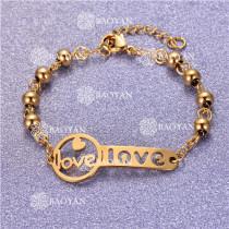 Pulsera con Bolitas Oro Dorado Para Mujer -SSBTG95-6192