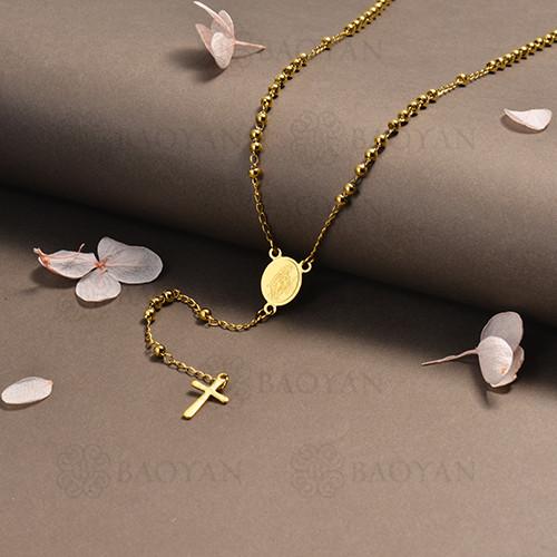 rosario en acero inoxidable -SSNEG95-16389