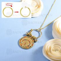 collar de multi color charm DIY en acero inoxidable -SSNEG142-14933