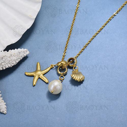 Collar de Perla Natural -SSNEG142-15563