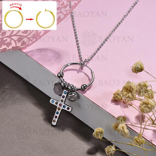 collar de DIY en acero inoxidable -SSNEG143-15515