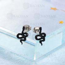 Aretes Cristal en Acero Inoxidable -SSEGG143-9574