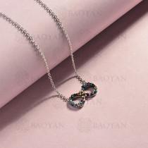 collar de acero inoxidable para mujer -SSNEG143-14821-S