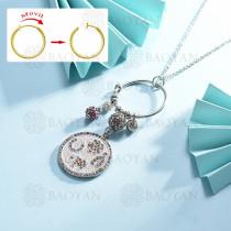 collar de multi color charm DIY en acero inoxidable -SSNEG142-14954