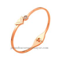 zorra con diamite pulseras de oro rosado de fantasias de moda online