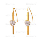 aretes con corazon de dorado en acero-SSEGG264420
