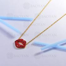 collar de acero inoxidable para mujer -SSNEG143-14803-G